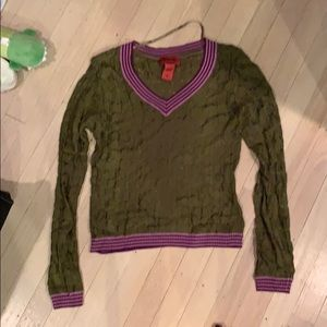 Missoni for Target olive sweater S
